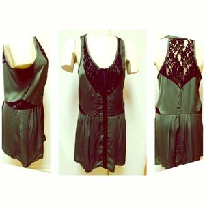NWT! Green and black lace dress - Ally fashion